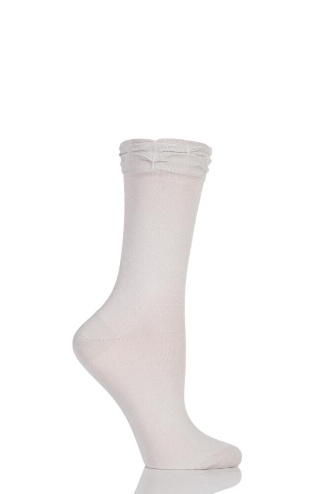 Ladies 1 Pair Levante Perla Ruffle Top Socks 25% OFF