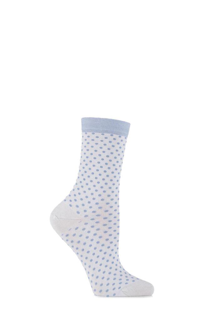 Ladies 1 Pair Levante Albertina Cashmere Blend Spotty Socks