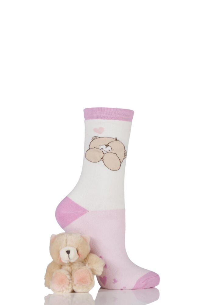 Ladies Forever Friends Bear and Slipper Socks Gift Box