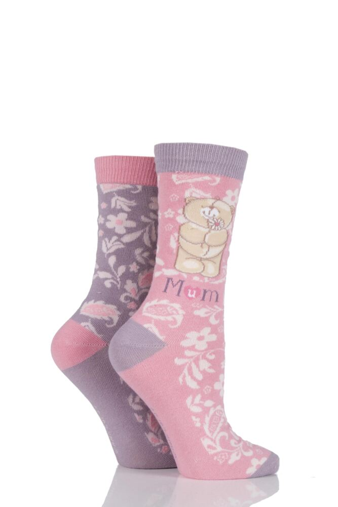 Ladies 2 Pair Forever Friends Mum Socks 25% OFF