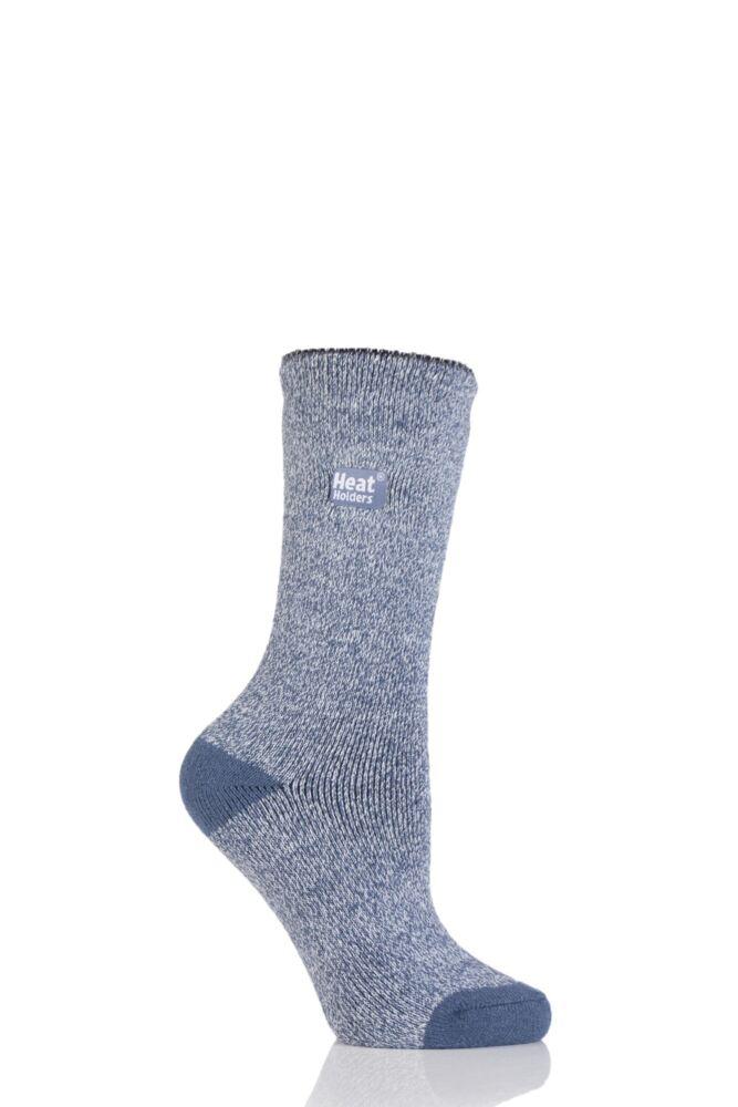 Ladies 1 Pair Heat Holders 1.6 TOG Lite Twisted Yarn Socks