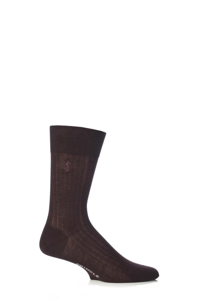 Mens 1 Pair Pringle of Scotland 100% Mercerised Cotton Rib Socks