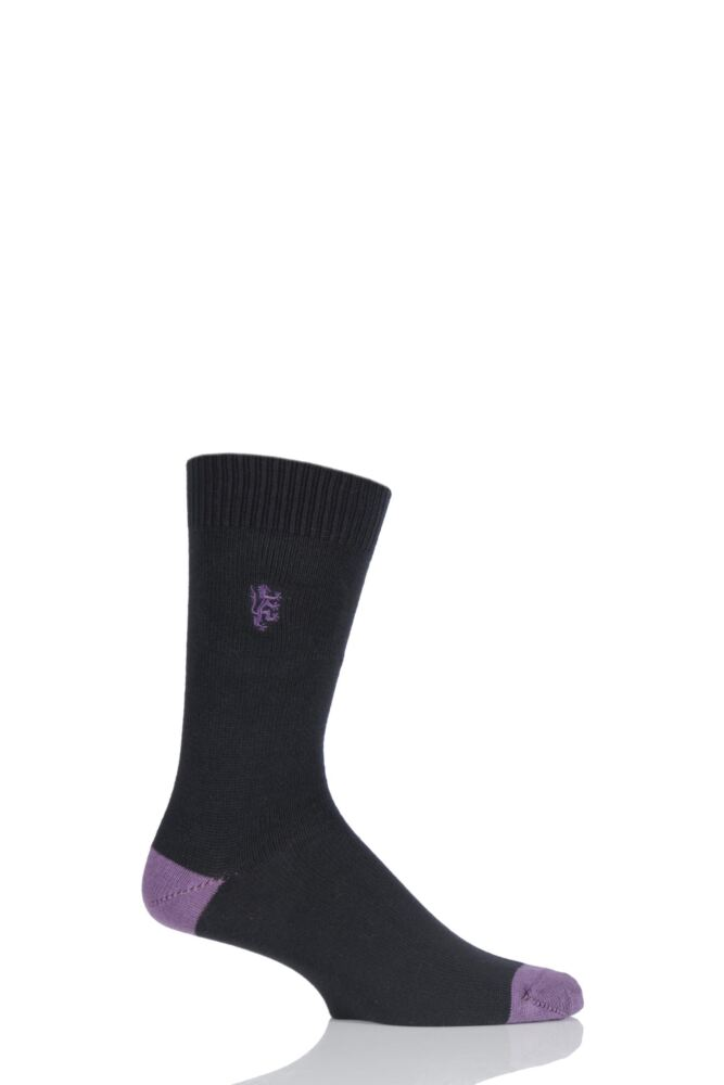 Mens 1 Pair Pringle of Scotland Cotton Contrast Heel And Toe Socks
