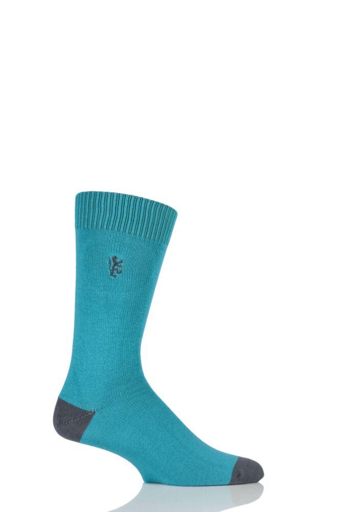 Mens 1 Pair Pringle of Scotland Cotton Contrast Heel And Toe Socks