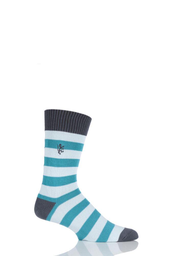 Mens 1 Pair Pringle of Scotland 6 Gauge Cotton Striped Socks 33% OFF