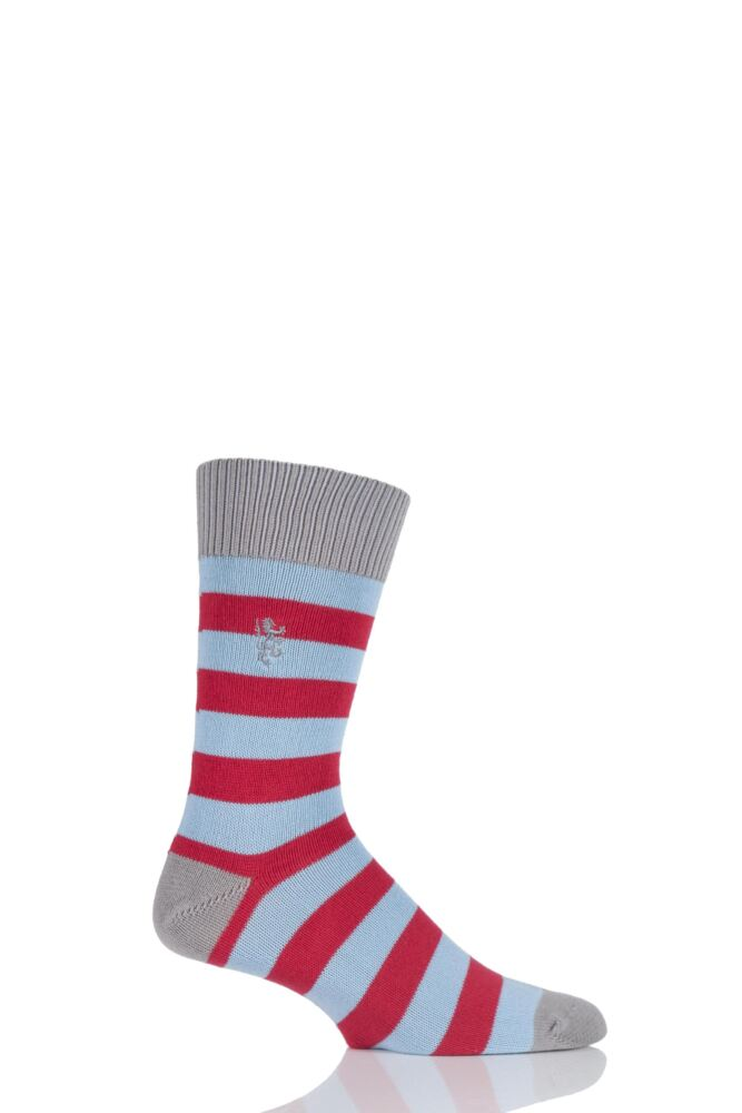 Mens 1 Pair Pringle of Scotland 6 Gauge Cotton Striped Socks 25% OFF