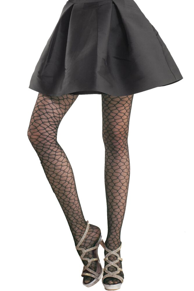 Ladies 1 Pair Trasparenze Mariposa Wave Fishnet Tights 25% OFF