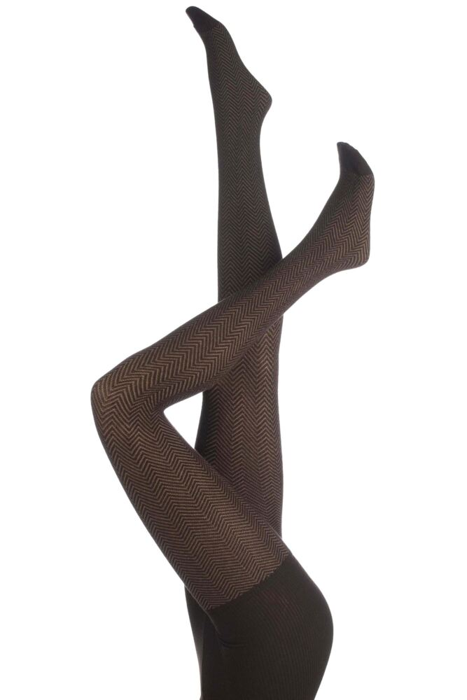 Ladies 1 Pair Trasparenze Drive-In Chevron Texture Tights 50% OFF