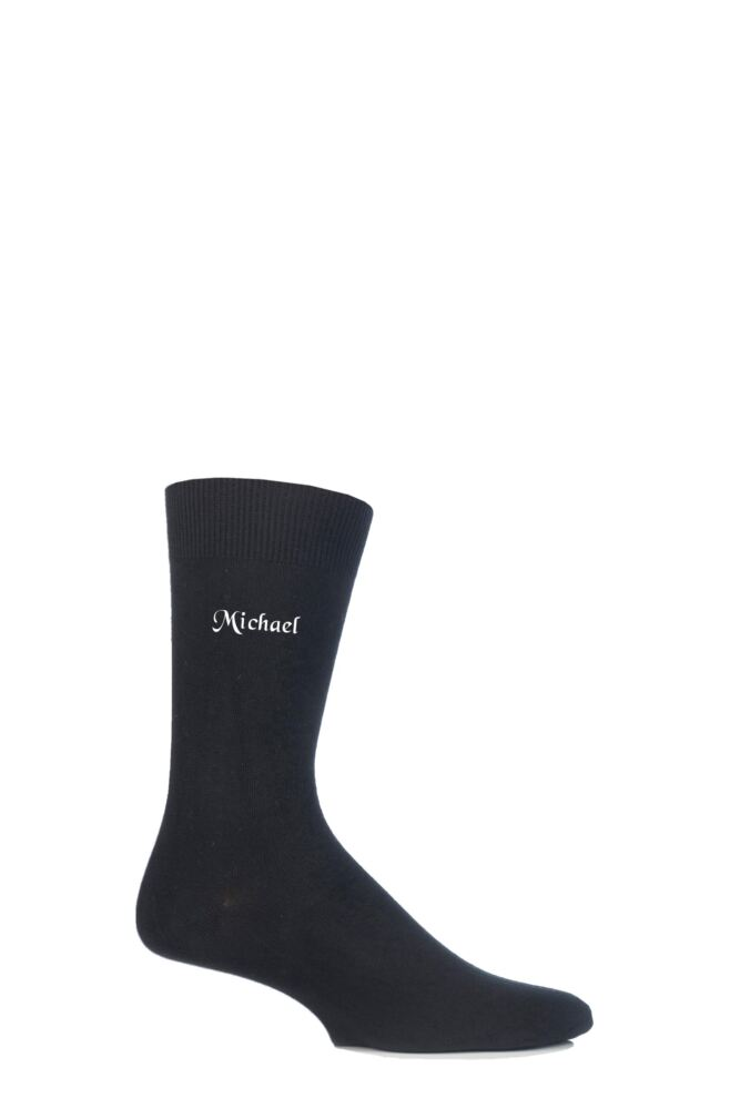 Mens 1 Pair SockShop New Individual Names Embroidered Socks -  45 Names To Choose From