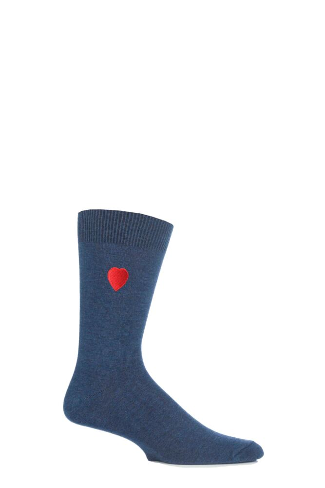 Mens 1 Pair SockShop Valentines Love Heart Socks