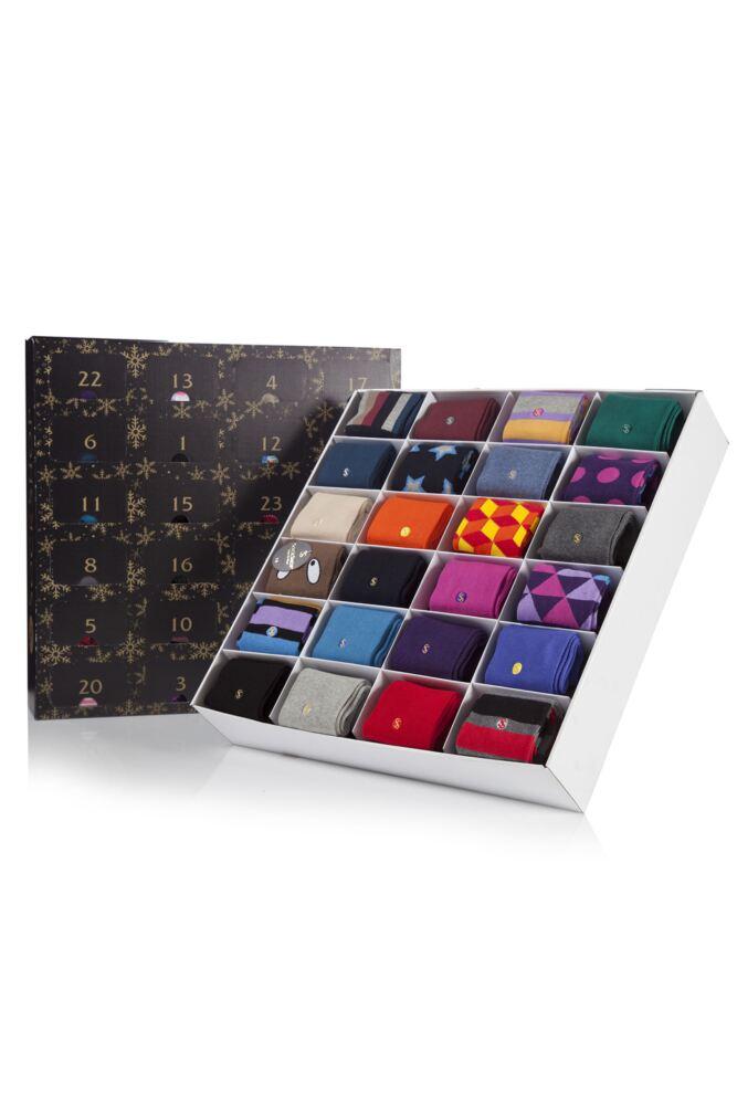 Mens SockShop Colour Burst Socks Advent Calendar - 24 Pairs of Socks
