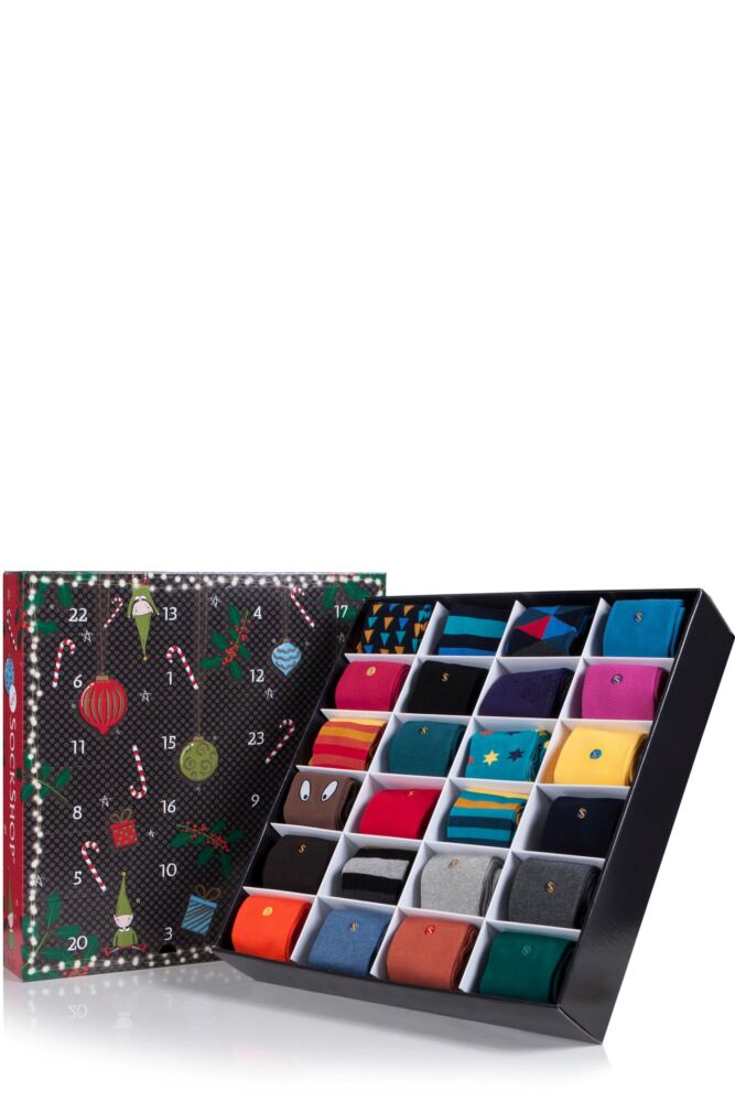 Mens SockShop Colour Burst Socks Advent Calendar - 24 Pairs of Socks