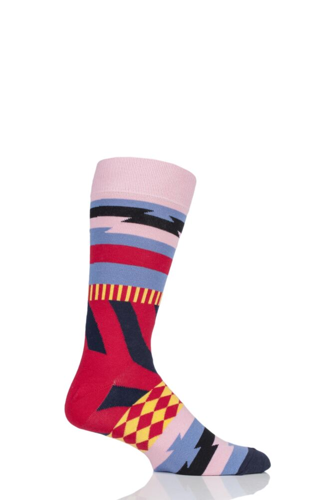 Mens and Ladies 1 Pair Happy Socks Mix Max Combed Cotton Socks