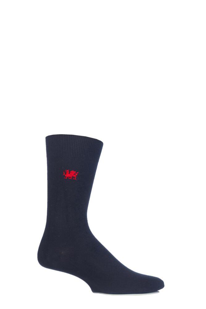 Mens 1 Pair SockShop New Individual Nations Embroidered Socks
