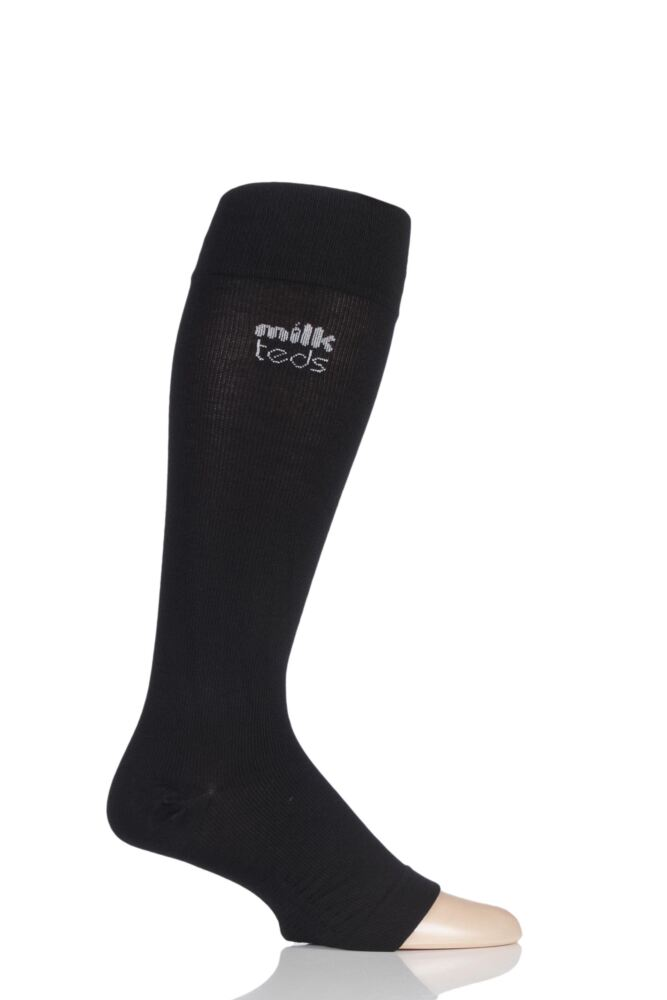 Mens and Ladies 1 Pair MilkTEDS Everyday Compression Open Toe Socks