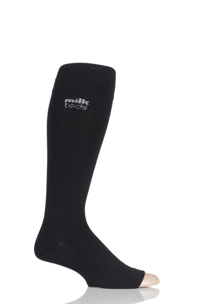 Mens and Ladies 1 Pair MilkTEDS Recovery Compression Open Toe Socks