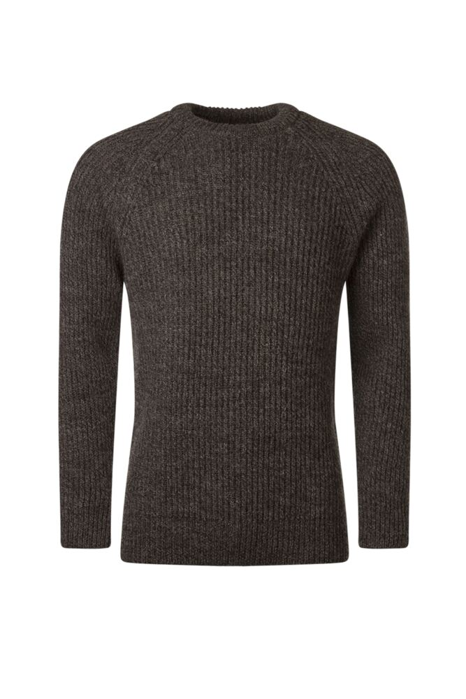 Mens Great & British Knitwear 100% British Wool Fisherman Rib Crew Neck Jumper