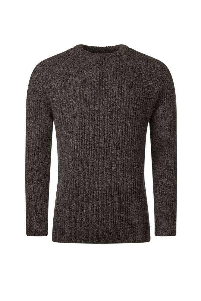 Mens Great & British Knitwear 100% British Wool Fisherman Rib Crew Neck Jumper