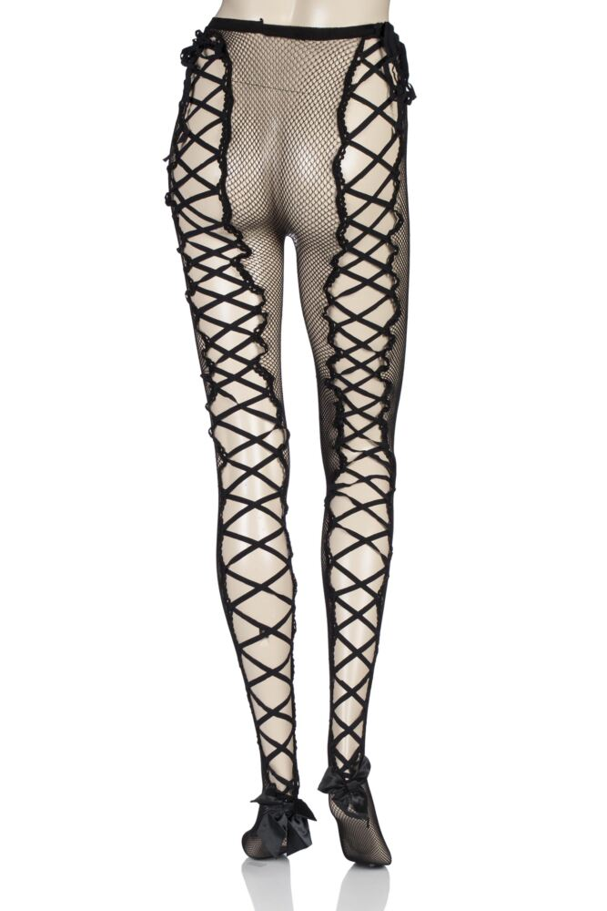 Ladies 1 Pair Couture Vixen Marilyn Ladder Back Fishnet Tights