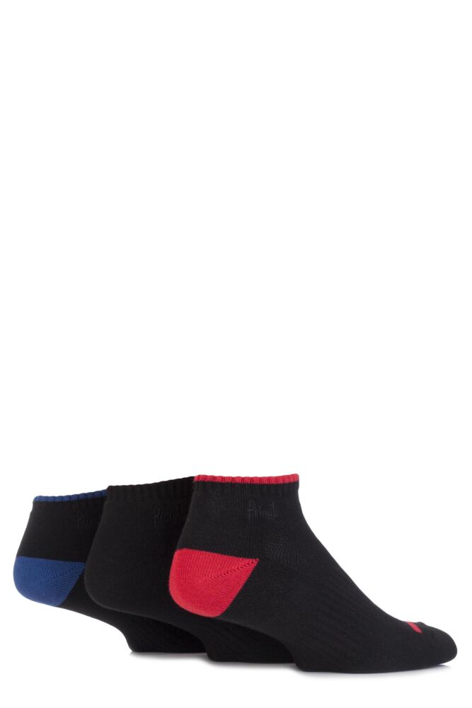 Mens 3 Pair Pringle Secret Sport Socks with Arch Support and Venting