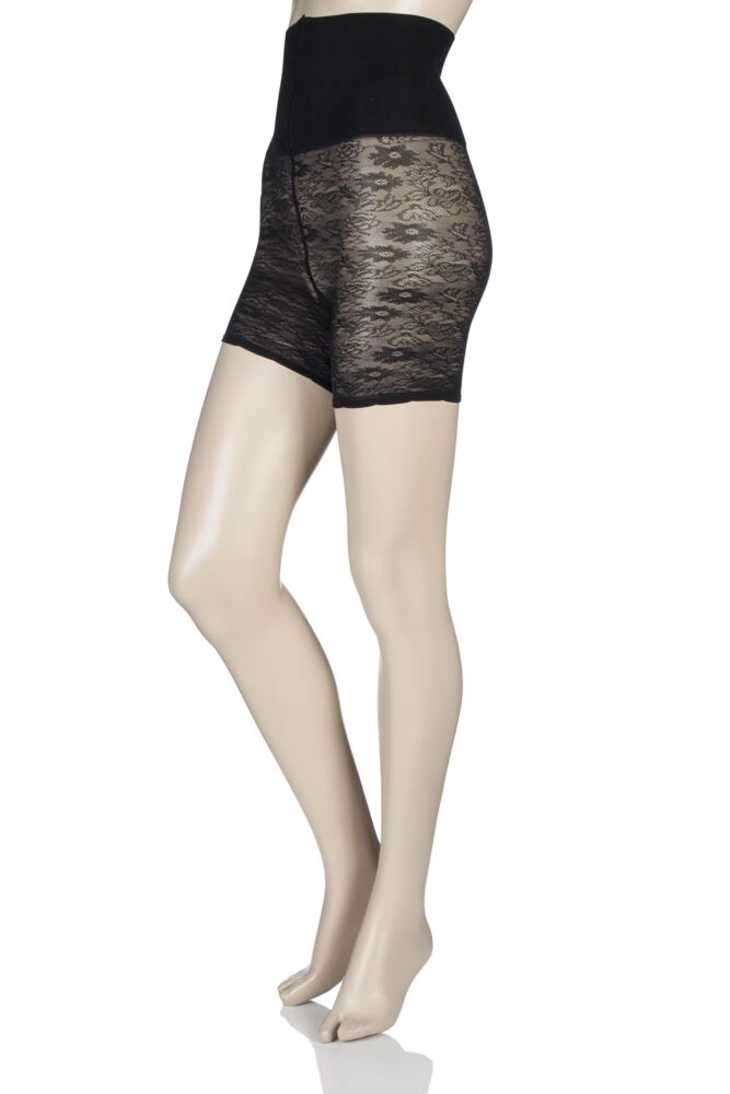 Ladies 1 Pack Pretty Polly Shape It Up Shaper Lace Shorts