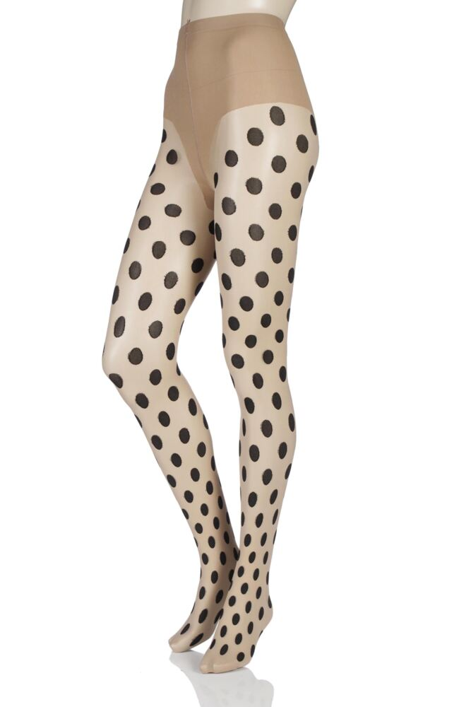 Ladies 1 Pair Pretty Polly Large Spot Tights