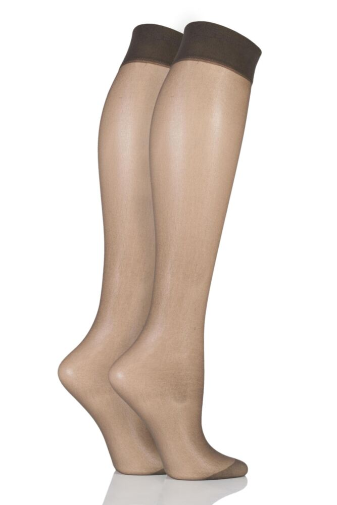 Ladies 2 Pair Pretty Polly Everyday Silver Fresh Support Knee Highs
