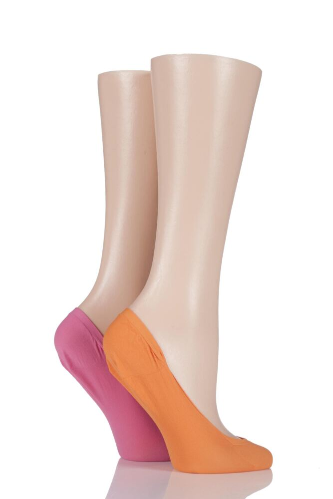 Ladies 2 Pair Pretty Polly Colourful Footsies