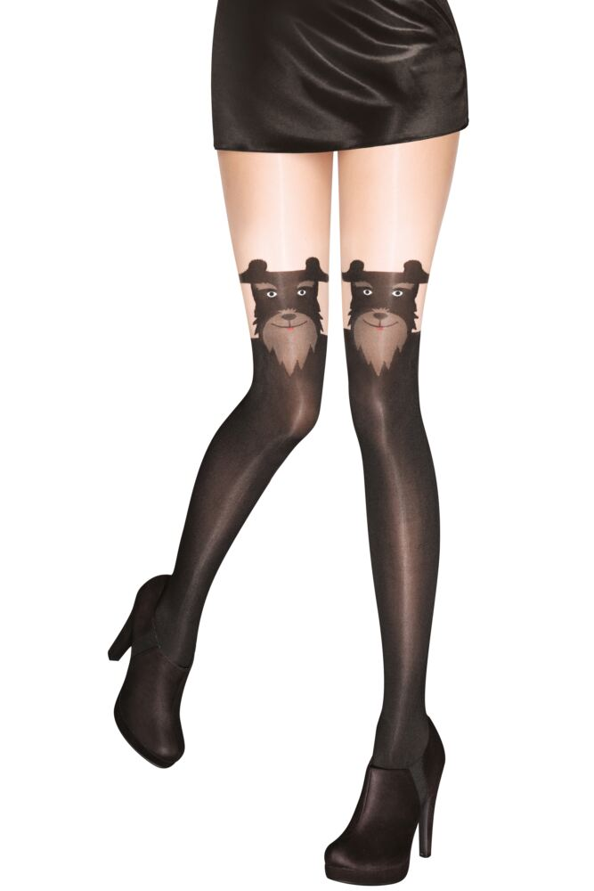 Ladies 1 Pair Pretty Polly Pretty Barking Mock Hold Up Tights 33% OFF