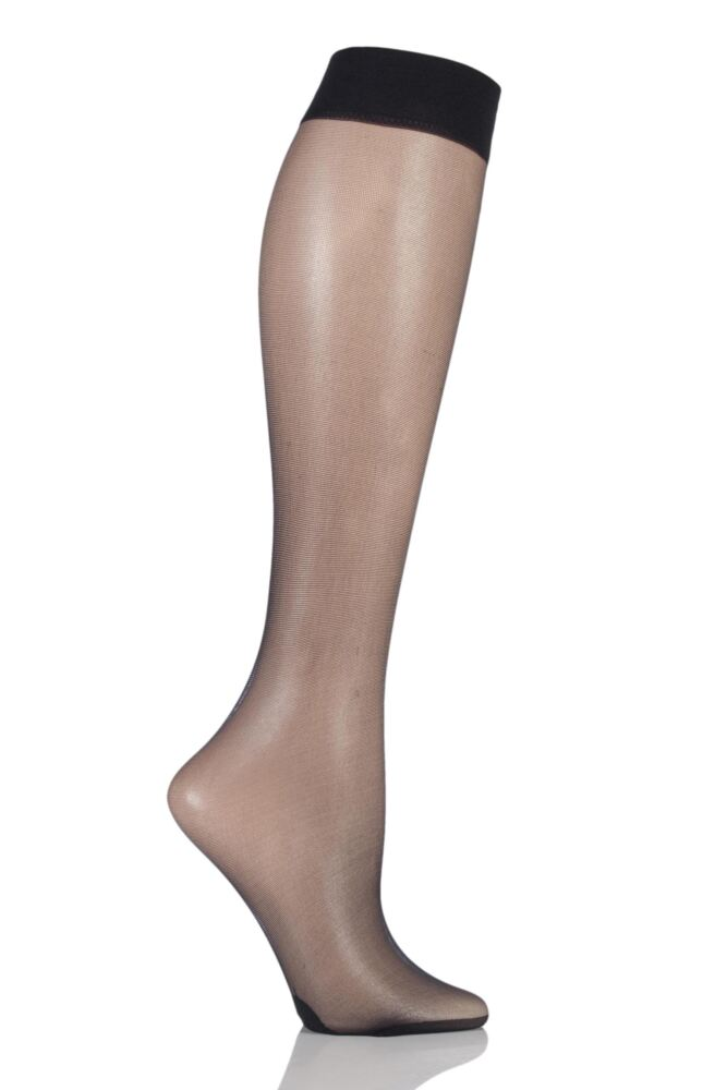 Ladies 1 Pair Pretty Polly Sweet Steps 10 Denier Sheer Knee High Socks