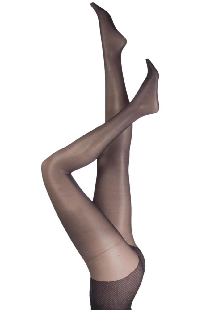 Ladies 1 Pair Pretty Polly Naturals 8 Denier Sandal Toe Tights