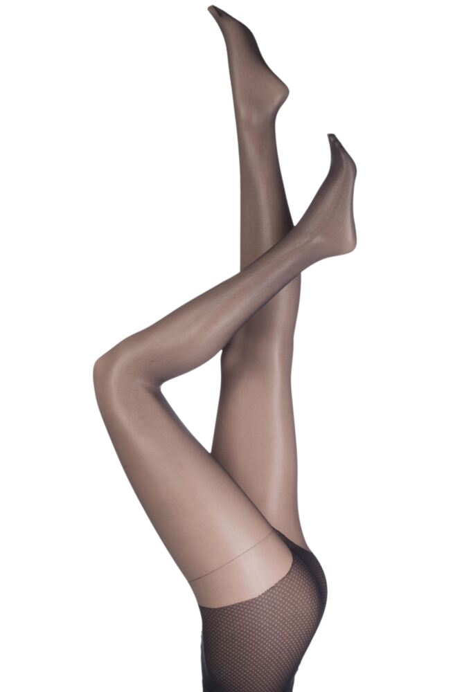Ladies 1 Pair Pretty Polly Naturals 8 Denier Sun Oil Sheen Tights