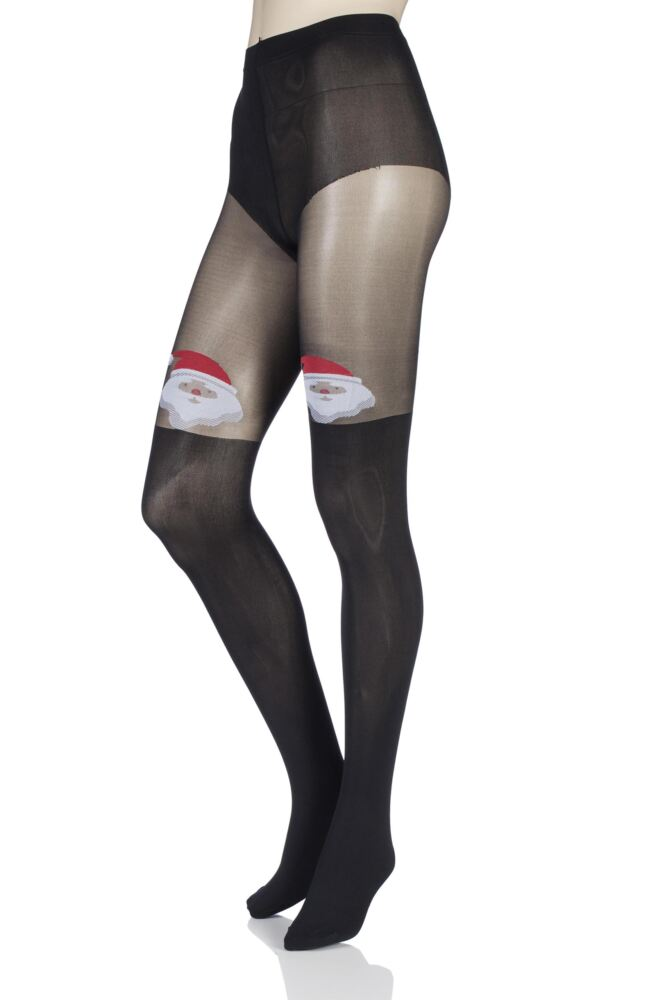 Ladies 1 Pair Pretty Polly Christmas Santa Mock Over the Knee Tights 25% OFF