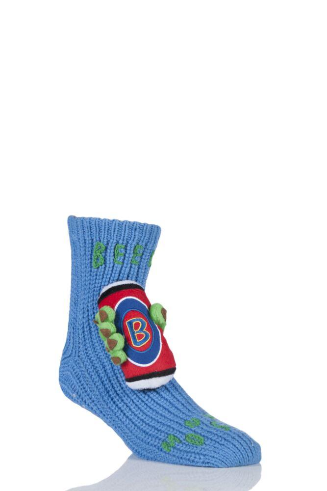Mens 1 Pair SockShop Toy Box Socks Beer Monster With Non-slip Grip