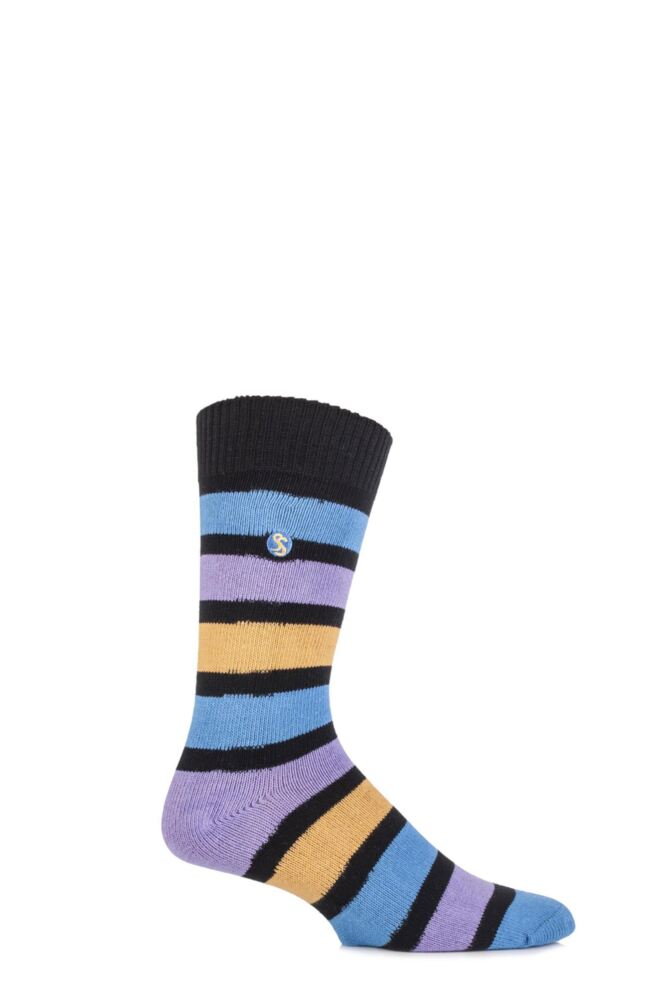 Mens 1 Pair SockShop Striped Colour Burst Socks