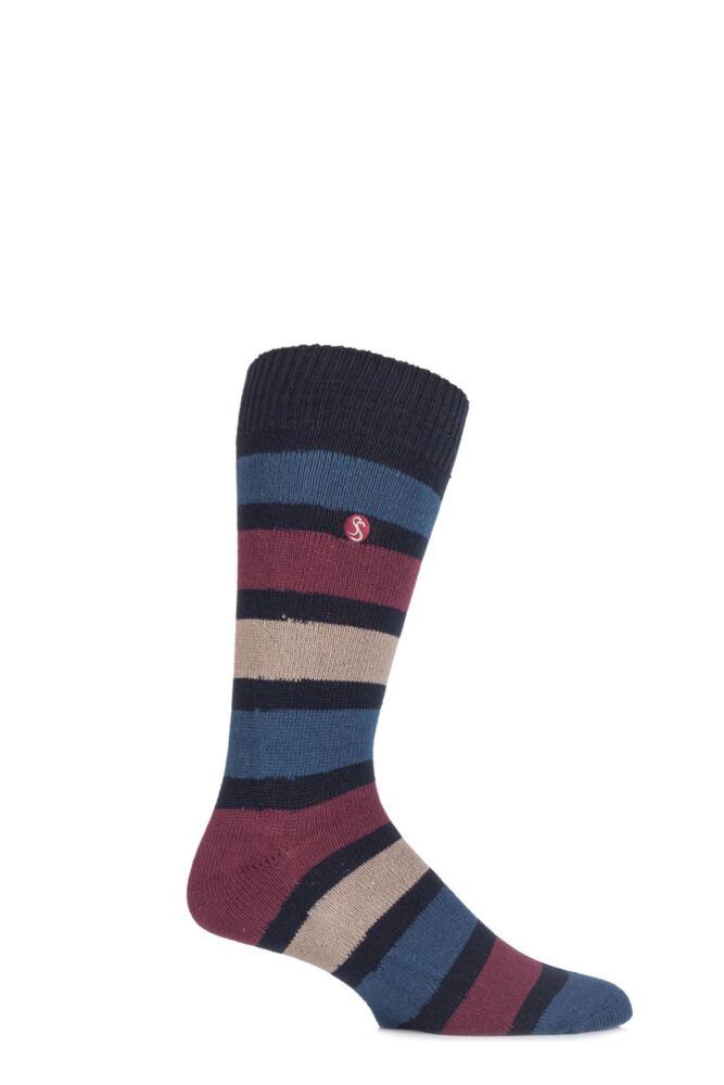 Mens 1 Pair SockShop Striped Colour Burst Socks