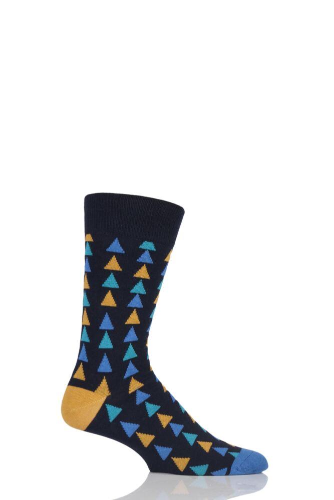 Mens 1 Pair SockShop Colour Burst Patterns Cotton Socks