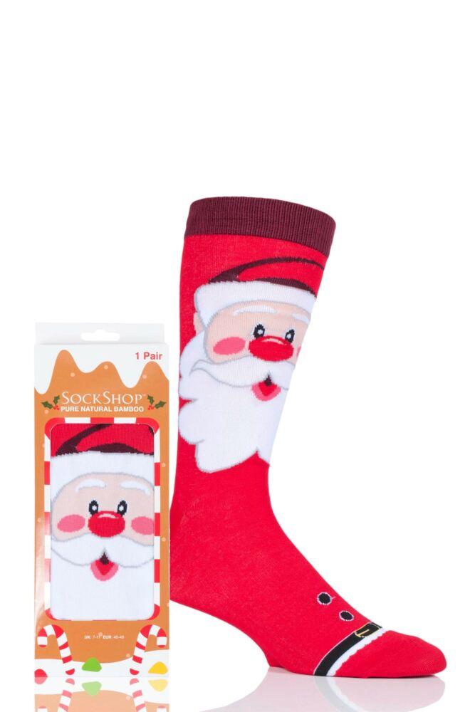 Mens and Ladies SockShop 1 Pair Lazy Panda Bamboo Santa Christmas Gift Boxed Socks