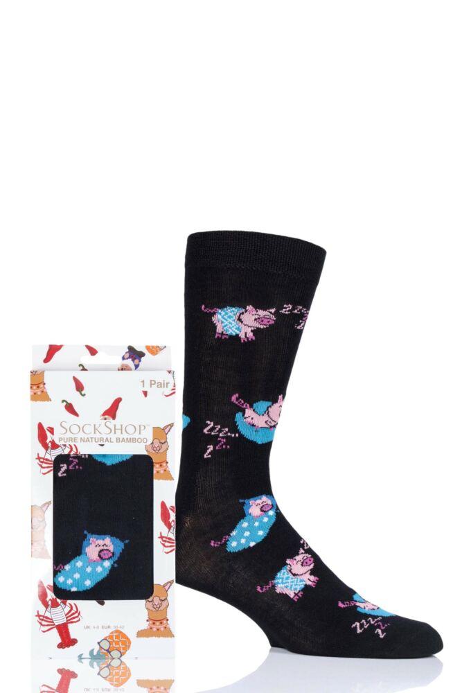 Mens and Ladies SockShop 1 Pair Lazy Panda Bamboo Pigs In Blankets Gift Boxed Socks