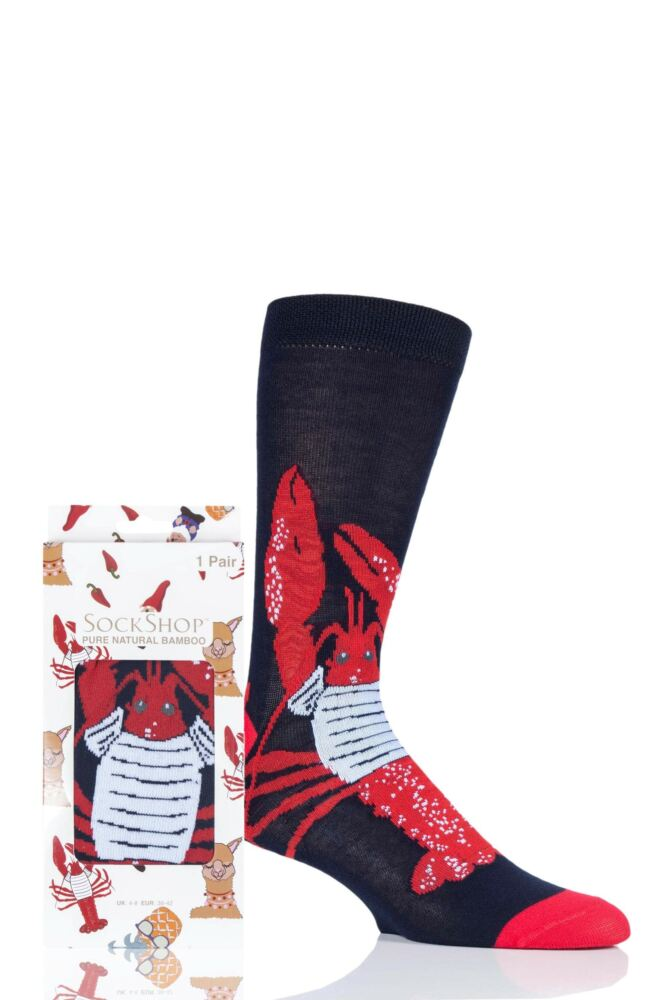 Mens and Ladies SockShop 1 Pair Lazy Panda Bamboo Lobster Gift Boxed Socks