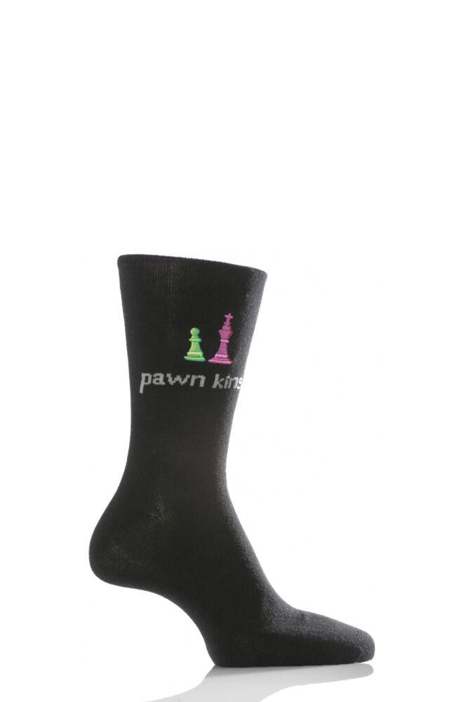 Mens 1 Pair SockShop Dare to Wear - Pawn King