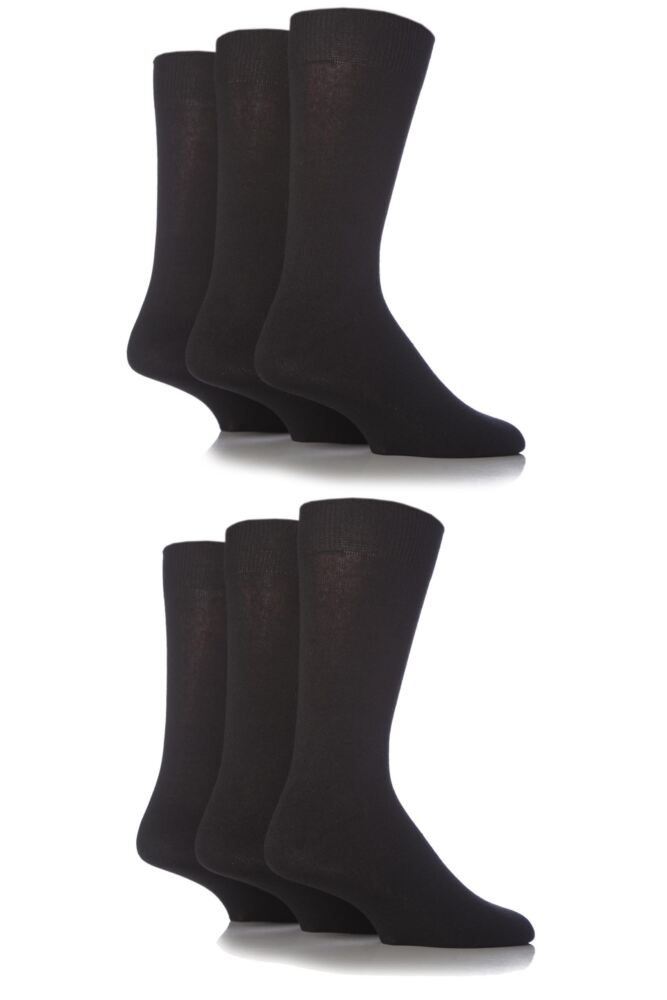 Mens 6 Pair SockShop Plain Classic Wool Socks