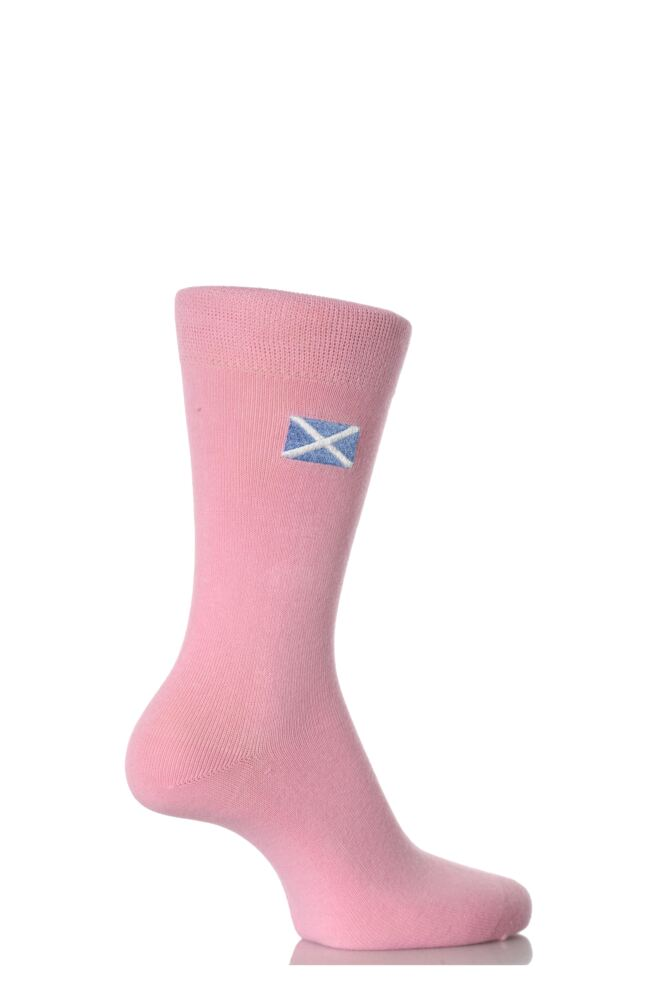 Ladies 1 Pair SockShop Individual Nations Pink Embroidered Socks - 3 To Choose From