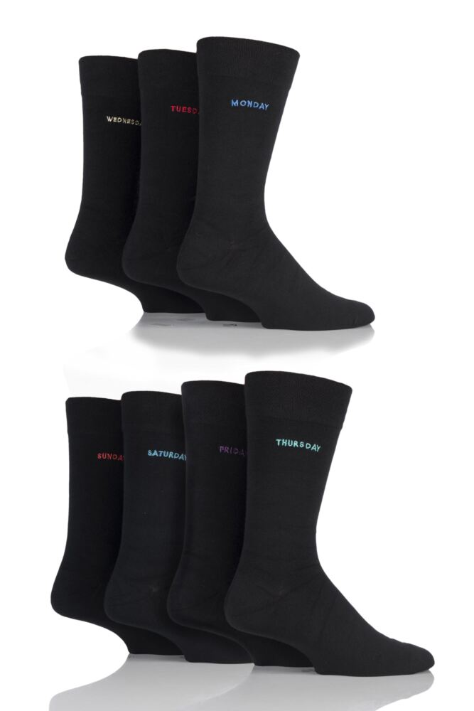 Mens 7 Pair SockShop Individual Seize The Day - 7 Days Of The Week Gift Box