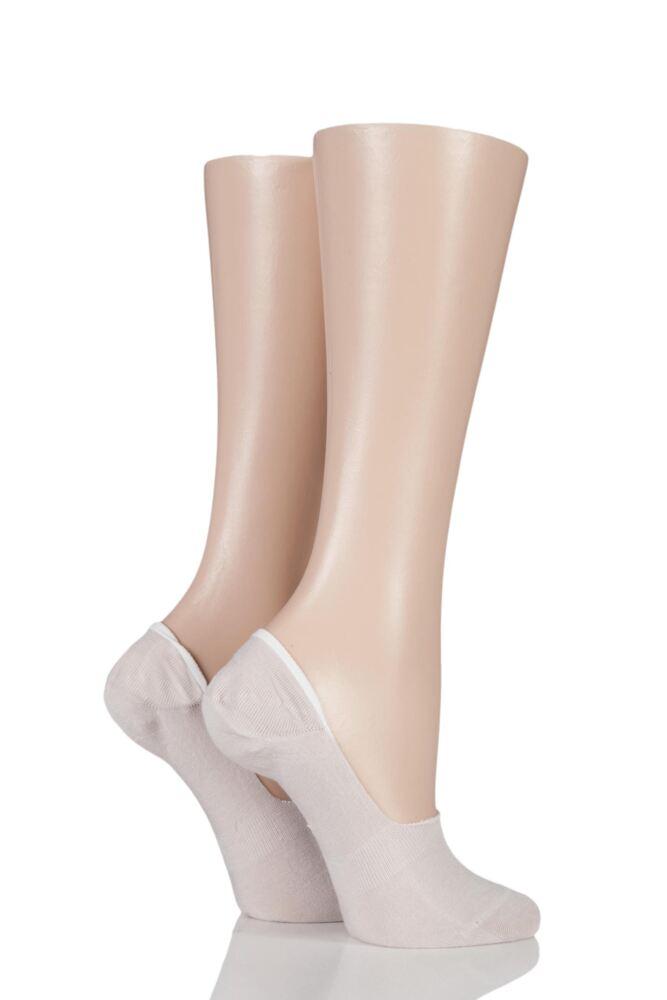 Ladies 2 Pair SockShop Seamless Bamboo Shoe Liners