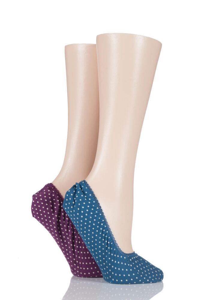 Ladies 2 Pair SockShop Printed Shoe Liners