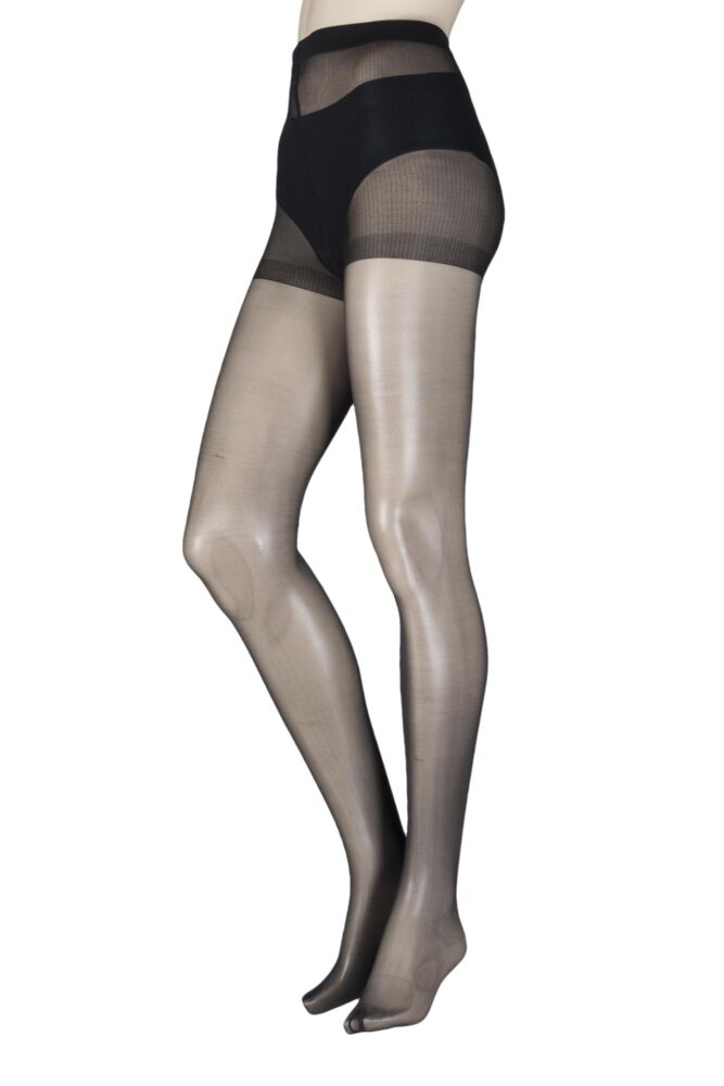 Ladies 1 Pair SockShop 10 Denier Classic Nylon Tights