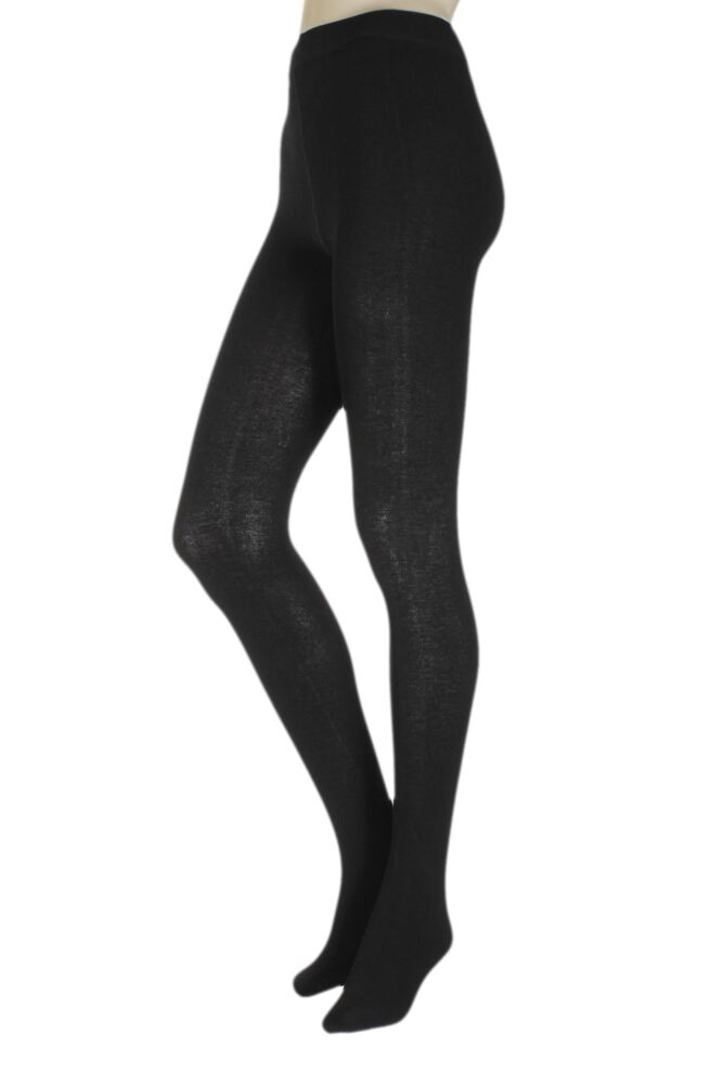 Ladies 1 Pair SockShop Brushed Inside Bamboo Tights