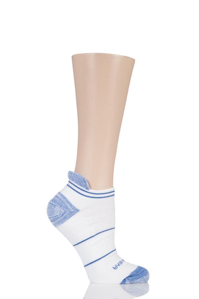 Mens 1 Pair RunBreeze Ergonomic Anti-Blister Trainer Socks With CoolMax