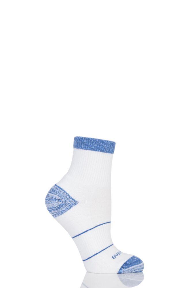 Mens 1 Pair RunBreeze Ergonomic Anti-Blister Ankle Socks With CoolMax